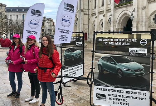Photo street marketing pour Volvo