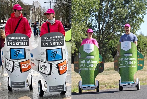 Street marketing avec les giropodes info tours et golf